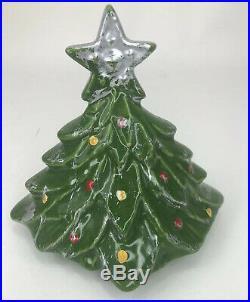 Vintage McCoy Christmas Tree Cookie Jar 1959