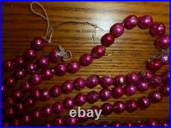 Vintage Mercury Glass Christmas Garland PINK Beads aprox. 160 Decoration Tree