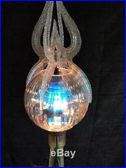 Vintage Merry Glow Christmas Electric Rotating Ornaments Tree Toper 1970s
