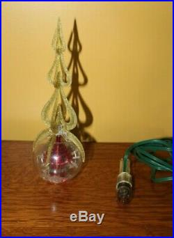 Vintage Merry Glow Christmas Electric Rotating Ornaments Tree Topper 1970s