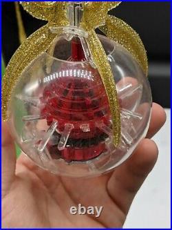 Vintage Merry Glow Christmas Rotating Atomic Sputnik Tree Topper
