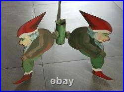 Vintage Metal Christmas Tree stand 3 Dwarfs 1930-1940