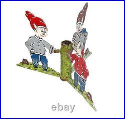 Vintage Metal Christmas Tree stand 3 Dwarfs ca. 1920 (# 6013)