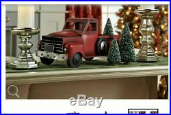 Vintage Metal Red Truck with 3 Removable Bottlebrush Trees by Valerie H211828