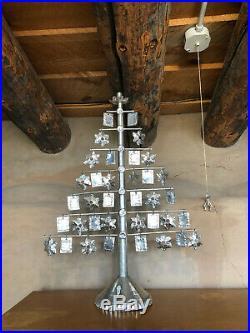 Vintage Mexican TIN Folk Art Tree of Life Christmas Candle Holder Candleholder