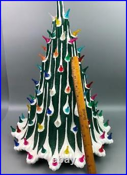 Vintage Mid-Century Atomic Plaster Christmas Tree Atlantic Mold