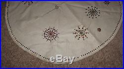 Vintage Mid Century Christmas Tree Skirt For Aluminum Tree Handmade