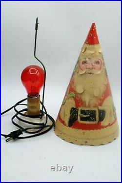 Vintage Mid Century Econolite Santa Merrie Merrie Christmas Tree Motion Lamp