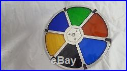 Vintage Mid Century Golde Rotochrome Color Wheel Christmas Tree Stage Spins WOW