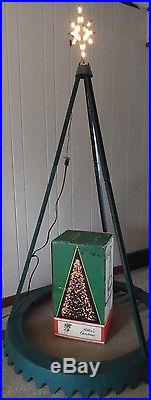 Vintage Miller's Christmas The Tree Of Light Plastic Blow Mold Yard Decoration