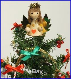 Vintage Miniature Christmas Tree Diorama Ornament. Bell Dome Glass Jar WESTRIM