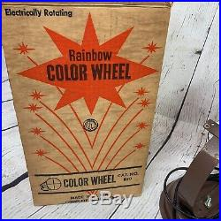 Vintage Motorized Color Wheel with Box Rotating Christmas Lights for Aluminum Tree