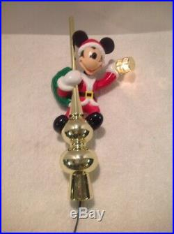 Vintage Mr Christmas Animated Mickey Mouse Lighted Lantern Tree Topper 1995