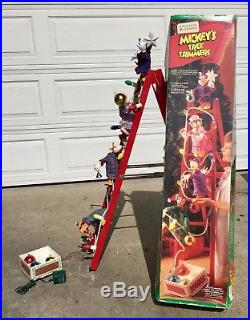 Vintage Mr. Christmas Mickey's Tree Trimmers Disney Animated Lighted Working 4
