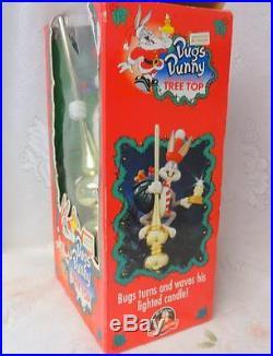 Vintage Mr. Christmas Motion Animated Lighted Tree Top Santa Bugs Bunny orig. Box