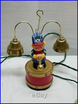 Vintage Mr. Christmas Santa's Marching Band Tree Decoration Musical Ornaments