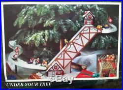 Vintage Mr Christmas Santa's Ski Slope Toy for Christmas Tree Complete WORKS