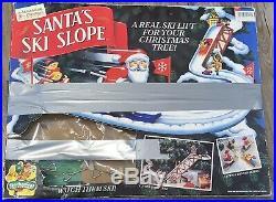 Vintage Mr. Christmas Santas Ski Slope Tree Decoration 100% Complete