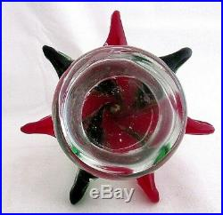 Vintage Murano Italy Christmas Tree Shaped Glass Paperweight 9 Solid No Sticker