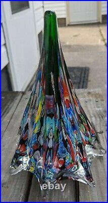 Vintage Murano Millefiori Glass Christmas Tree