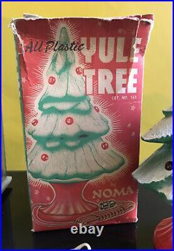 Vintage NOMA All Plastic Light Up Yule Christmas Tree Boxed