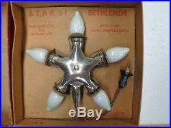 Vintage NOMA Star of Bethlehem Light Christmas Tree Star Sweet Old Find