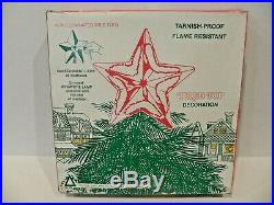 Vintage National Tinsel Spun Glass Halo Angel Christmas Tree Two Sided Rare