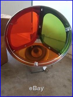 Vintage Nesbit Revolving Color Lens Wheel Light Aluminum Christmas Tree In Box