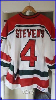 Vintage New Jersey Devils Scott Stevens Christmas Tree Jersey Sz 52