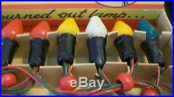Vintage Noma 15 Light Christmas Tree Lights, Large Bulbs, Works