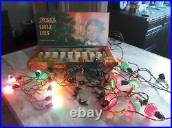 Vintage Noma Bubble Lites Original Box clips Paramount Gilbert 4 Christmas tree