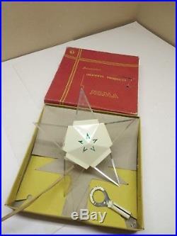 Vintage Noma Illuminiated Christmas Tree Star Original Box Working