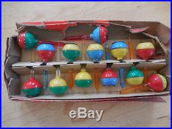 Vintage Noma Lot Christmas Tree Snap On Bubble Lights Covers