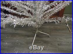 Vintage Noma Silver Vinyl 72' Aluminum Christmas Tree In Box