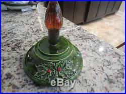 Vintage Nowell Ceramic Lighted Christmas Tree 17 19 1/2 With Star 8 Base