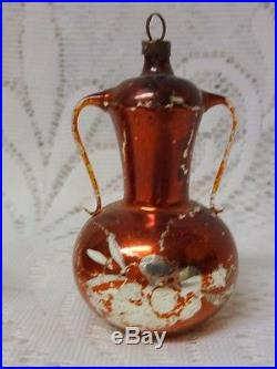 Vintage Old Germany Glass Christmas Tree Ornament Teapot Chocolate Pot Rare