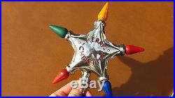 Vintage Original 1930s Lighted Electric Noma Merry