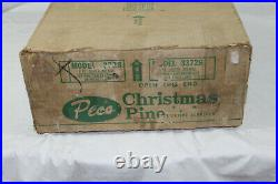 Vintage PECO Super Deluxe 7 ft Pom Pom Aluminum Tree in Original Box Model 3728