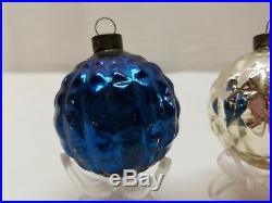 Vintage Patriotic Christmas Tree Ornament Decoration Ball Bauble Lot Embossed