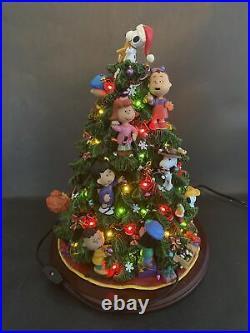 Vintage Peanuts Danbury Mint Working Peanuts Gang Decorating Christmas Tree /BG