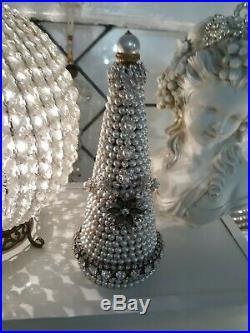 Vintage Pearl Jewelry Christmas Tree OOAK