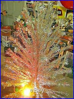 Vintage Peco 6 Ft. Deluxe Aluminum Christmas Tree 91 Pom Poms & Original Box