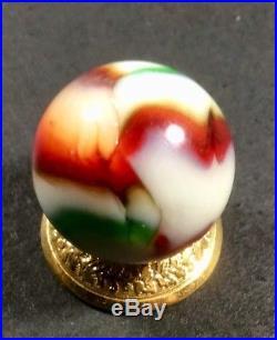 Vintage Peltier National Line Rainbow Christmas Tree Marble. 81 Inch. Mint