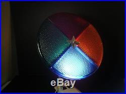 Vintage Penetray Aluminum Christmas Tree Rotating Color Light Wheel