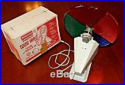 Vintage Penetray Motorized COLOR WHEEL Aluminum CHRISTMAS Tree WORKS with Box