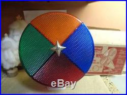 Vintage Penetray Motorized Christmas Tree Color Wheel In Box Nice