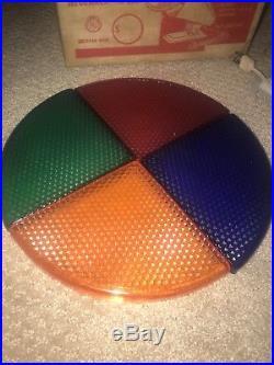 Vintage Penetray Rotating Christmas Tree Color Wheel w Box Decoration Works A+