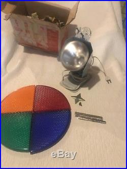 Vintage Penetray Rotating Christmas Tree Color Wheel w Box Decoration Works A+