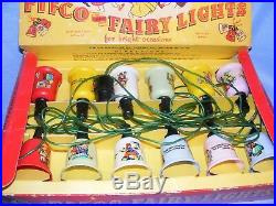 Vintage Pifco Christmas Nursery Rhyme Plastic Tree Decoration Lights Old Boxed