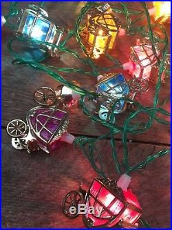 Vintage Pifco Cinderella Carriages/Lanterns Christmas Tree Lights Coaches Retro